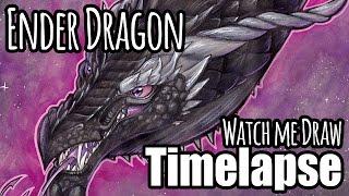 "WATCH ME DRAW! - ""The Ender Dragon"" - Art Timelapse"