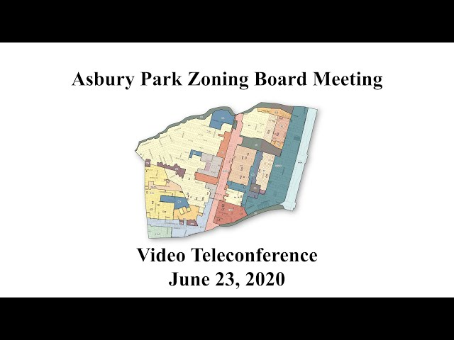Asbury Park Zoning Board Meeting - June 23, 2020