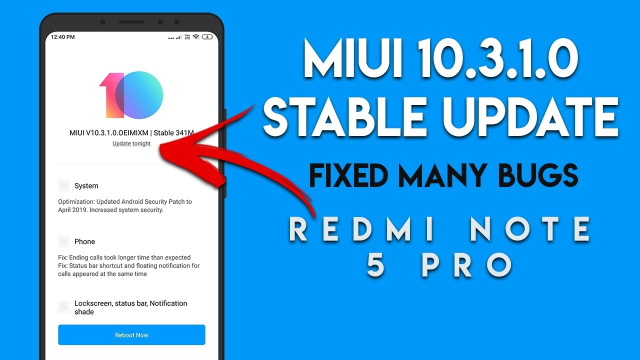 MIUI 10 3 1 0 GLOBAL STABLE UPDATE, NO PIE | REDMI NOTE 5 PRO BUG FIXED |  हिन्दी