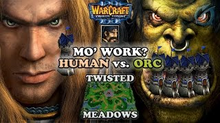 Grubby | Warcraft 3 The Frozen Throne | Human vs. Orc - Tower Rush - Twisted Meadows