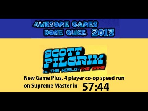 [AGDQ] Scott Pilgrim vs the World: The Game  - 4 player co-op speed run on hardest [Jan 9th 2013]