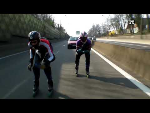 Roller de vitesse downhill - Rollerblading performance to 100 km/h the National 118 ! (Paris)