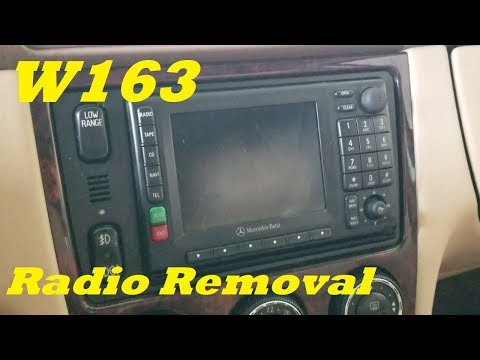 Radio removal and replacement on mercedes W163 1998-2005 ML320 ML350