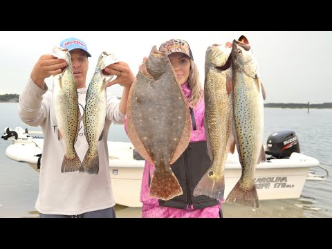 Inshore Slam! Giant Trout, Reds, And Flounder + Tutorial, TIPS And HOW TO