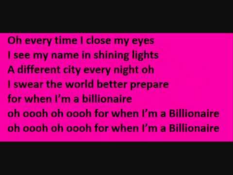 Tracie McCoy: Billionaire ft Bruno mars Lyrics