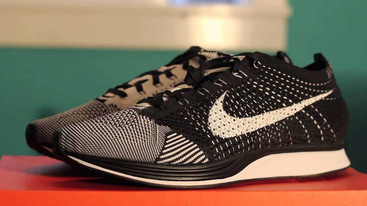 10a182af21a36 ... Nike Flyknit Racer BlackWhite 1080p - YouTube .