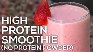 A delicious high protein low fat smoothie recipe that you can customise to your preference and which does not require any powder. calories - 281 prot...