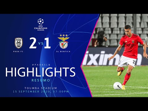 RESUMO / HIGHLIGHTS: PAOK FC 2-1 SL Benfica