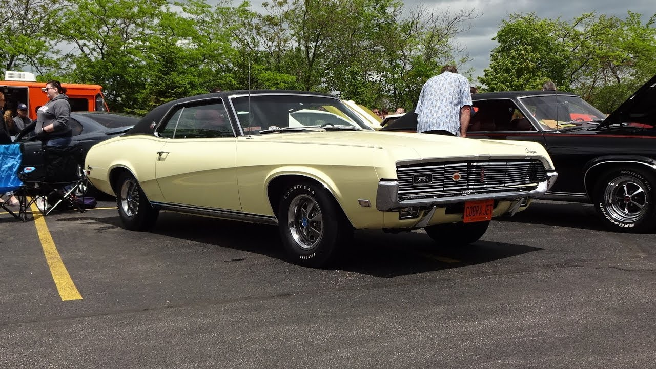 1969 Mercury Cougar XR7 in Yellow Paint & 428 CJ Engine Sound on My