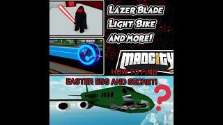 Roblox Mad City ⚡ Lazerblade ⚡ How to Find Secret Easter Egg!