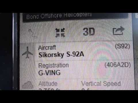 Bond offshore helicopters Sikorsky S-92A (G-VING) on flightradar24 @11:38