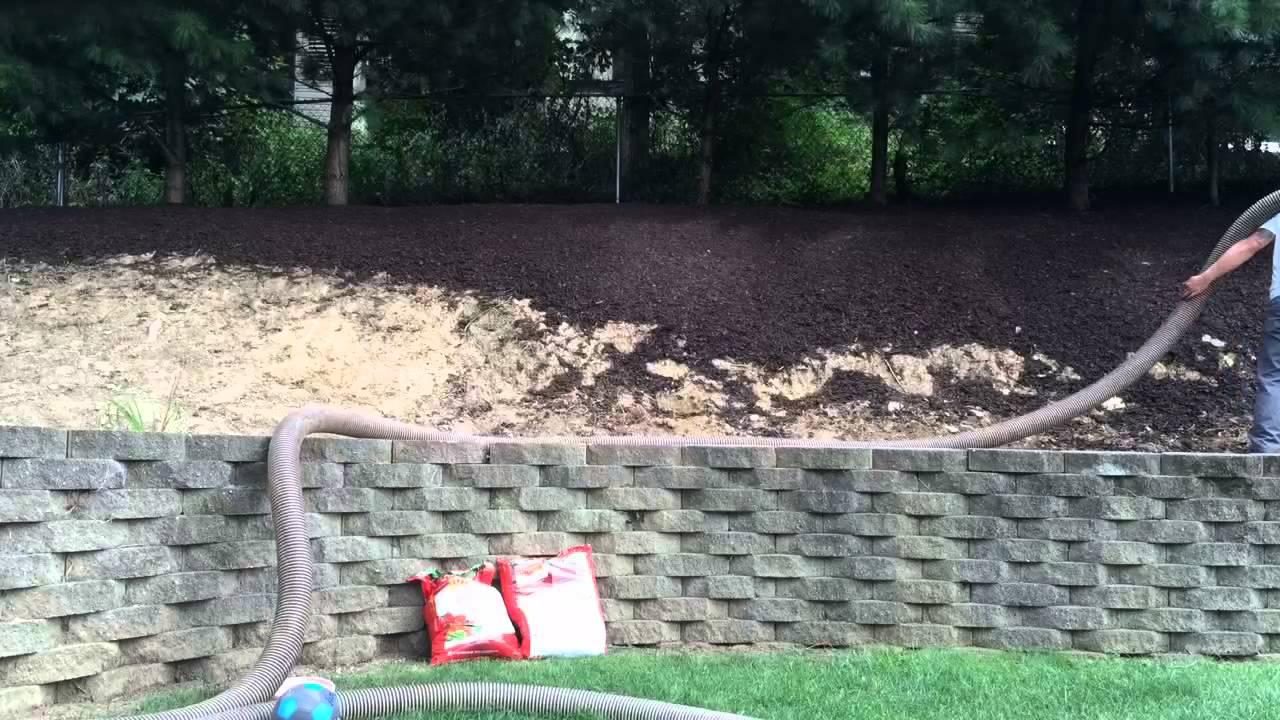 mulch steep hill