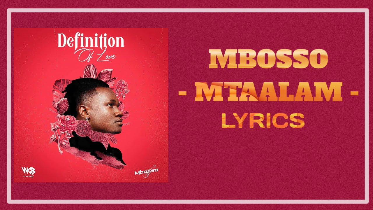 Download Mbosso Mtaalam Official Video Lyrics 720p