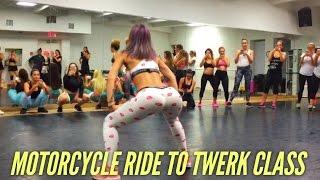 lexy panterra twerk out riding to miami moto vlog 05