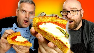Making Pizza Crust out of Spaghetti | The real Spaghetti Pizza