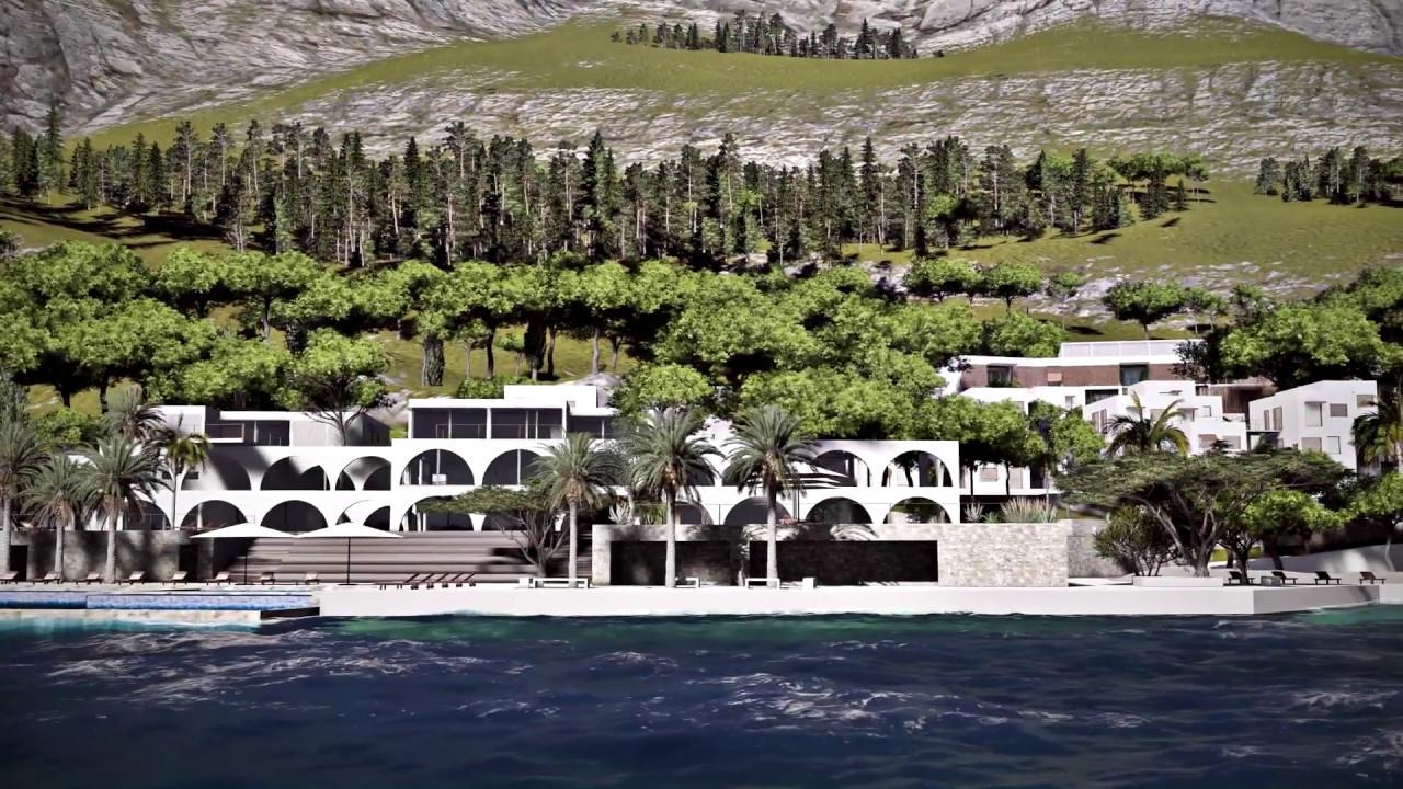 Morenia resort architeture design and 3d project youtube for Kroatien designhotel