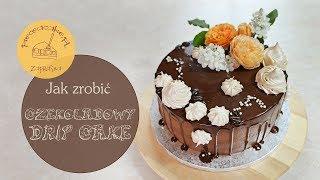 Jak zrobić tort urodzinowy z czekoladową polewą i kwiatami / How to make a chocolate drip cake