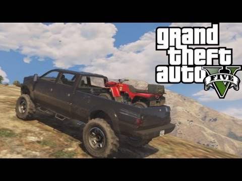 ★ GTA 5 - Hauling ATV Up Mountain | Off-Road 4x4