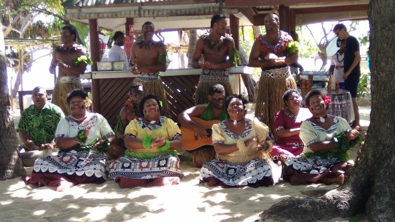 Fijian Meke Performance, South Sea Island, Mamanucas, Fiji