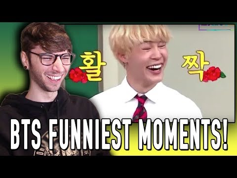 "REACTING TO ""BTS FUNNIEST MOMENTS OF 2017"""