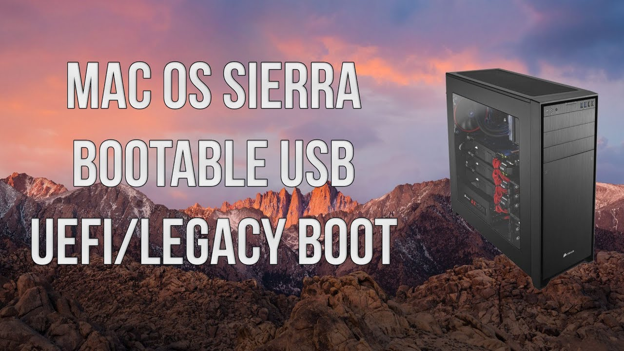 how to create sierra usb