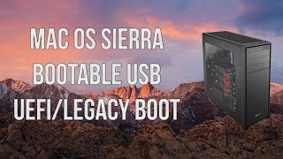 How to create Bootable USB for mac OS Sierra (Hackintosh)
