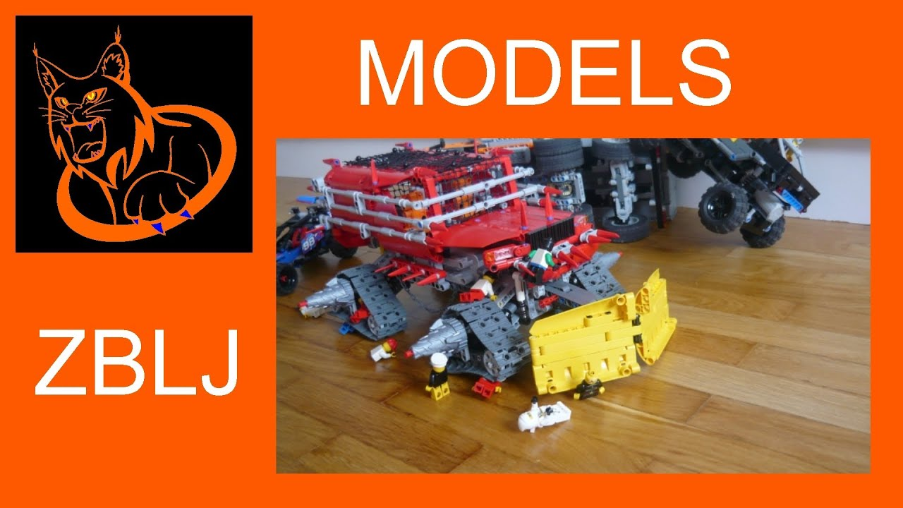 Model Lego Technic Zombie Apocalypse Vehicle Youtube