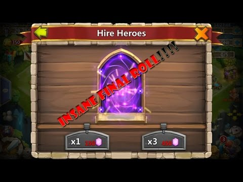 Castle Clash Free Account Giveaway Rolling Gems For Heroes Insane Roll Youtube