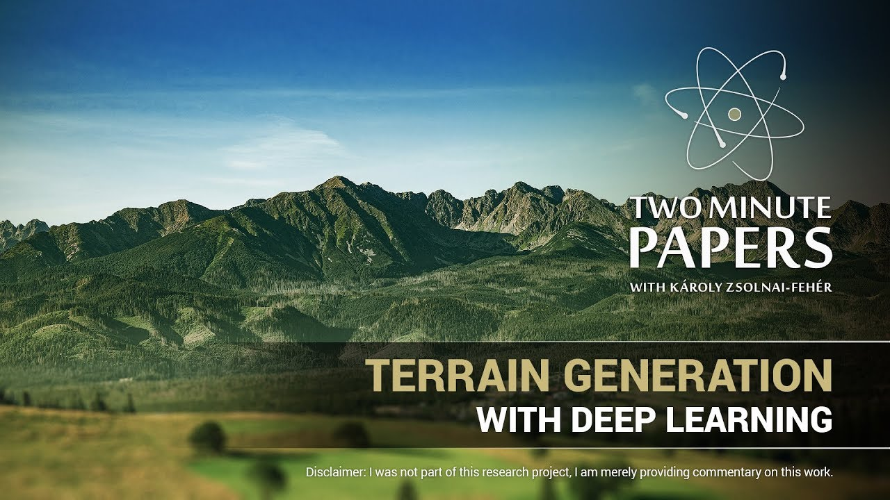 Terrain Generation With Deep Learning | Two Minute Papers #208