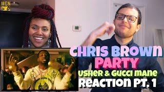 Chris Brown Party Ft. Gucci Mane, Usher Reaction Pt.1