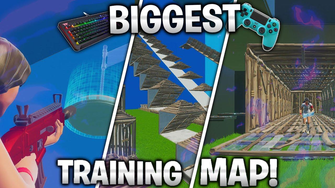 Biggest Training Map V2 Aim Edits Builds Fortnite Creative