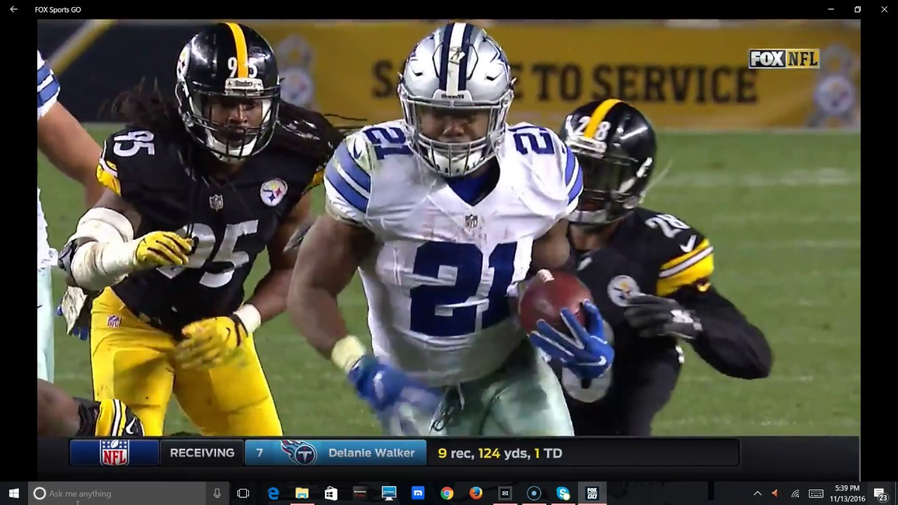 416280b1 Dallas Cowboys vs Pittsburgh Steelers Final Minute NFL week 10 2016 ...
