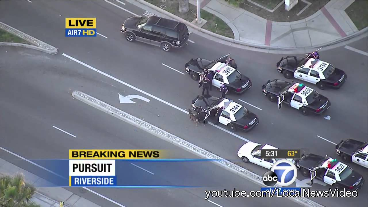 police chase - riverside, ca parolee - feb 26, 2013 - youtube