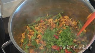 """ Black Eye Beans Fijian Indian Recipe "" Bajias Cooking"