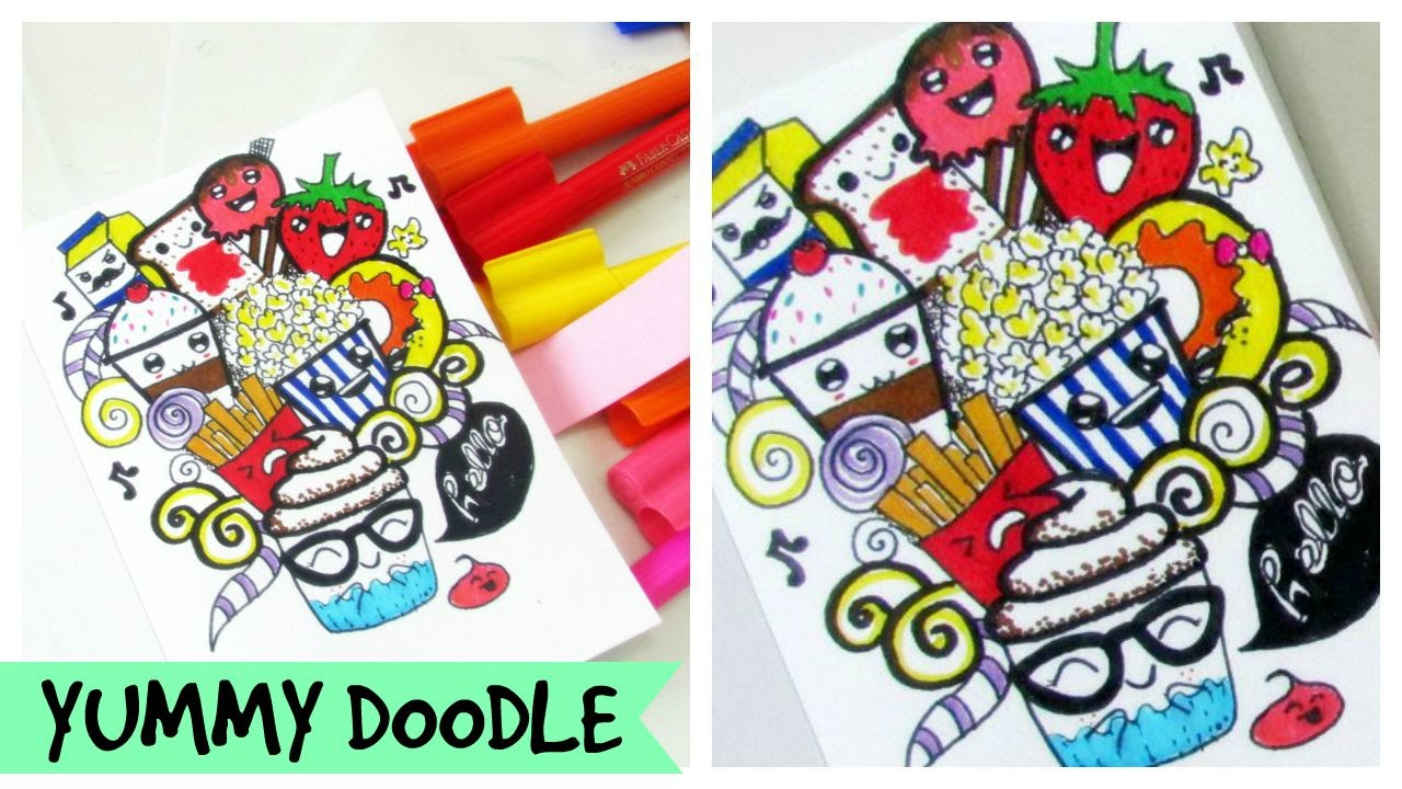Lets Doodle Food Doodle Kawaii Youtube
