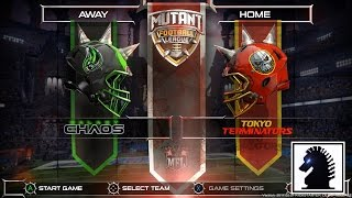 PC Mutant Football League -  Kickstarter Demo - Galaxy Chaos vs Tokyo Terminators