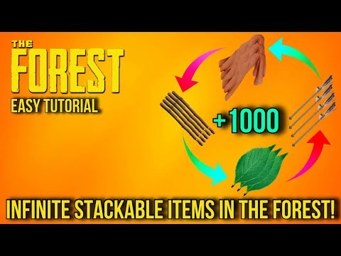 The Forest - Super Easy Duplication Glitch - Infinite Stackable Items In The Forest! (Easy Tutorial)
