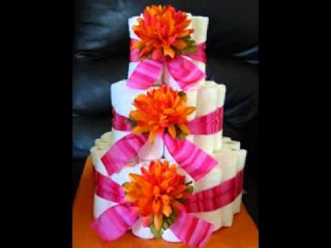 DIY Baby Shower Diaper Cake Decorating Ideas   YouTube