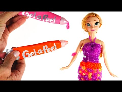 Thumbnail: DIY Princess Anna Gel-a-Peel Dress | How To Make Disney Frozen Doll Clothes using Gel a Peel