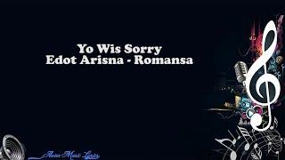 Yo Wis Sorry - Edot Arisna Romansa (Video Lyrics)