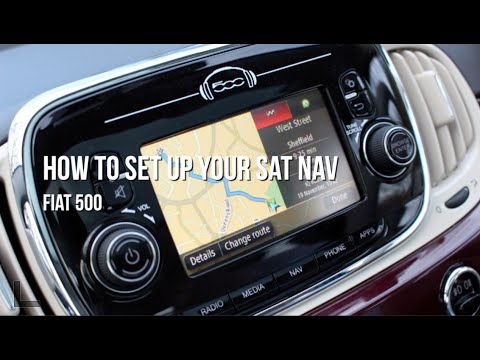 fiat 500 setting up your sat nav youtube. Black Bedroom Furniture Sets. Home Design Ideas