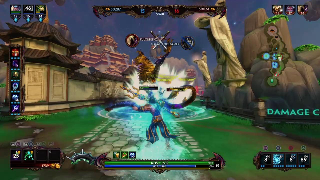 Smite Ps4 Joust Gameplay Woxenfury Poseidon Build Kraken To Win