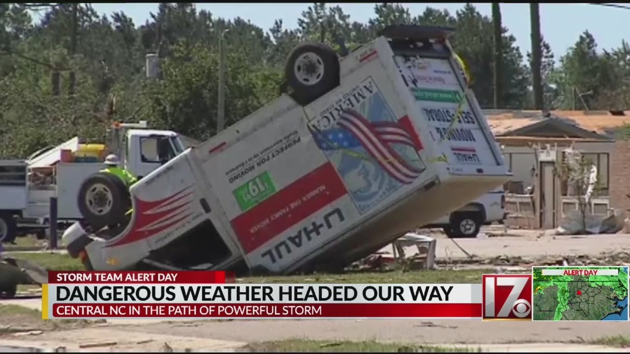 National Weather Service in Raleigh says severe weather Monday ...