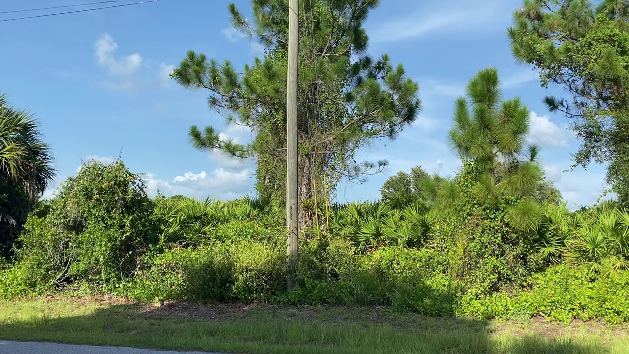 0.23 Acres – With Power and Paved Road! In North Port, Sarasota County FL