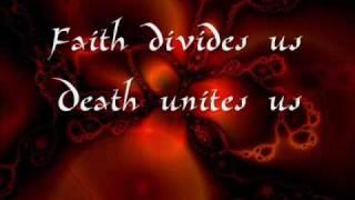 Paradise Lost  . Faith Divides Us - Death Unites Us