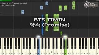 BTS JIMIN - 약속 (Promise) Piano Tutorial 피아노 배우기
