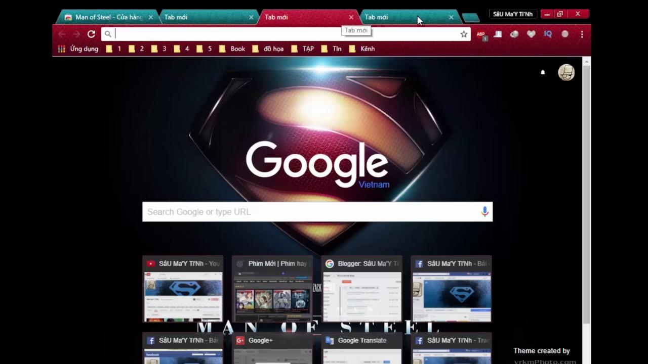 Hướng dẫn CÀI theme - TẠO theme cho Google Chrome - Làm đẹp Google Chrome