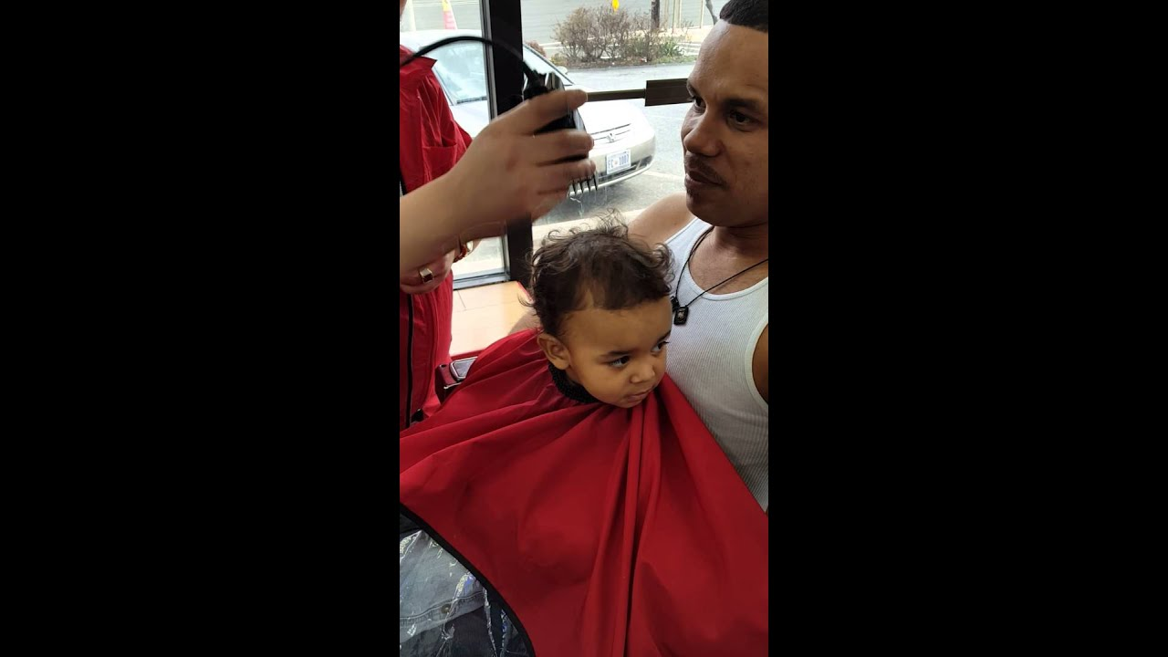 The First Haircut Of My Son Youtube