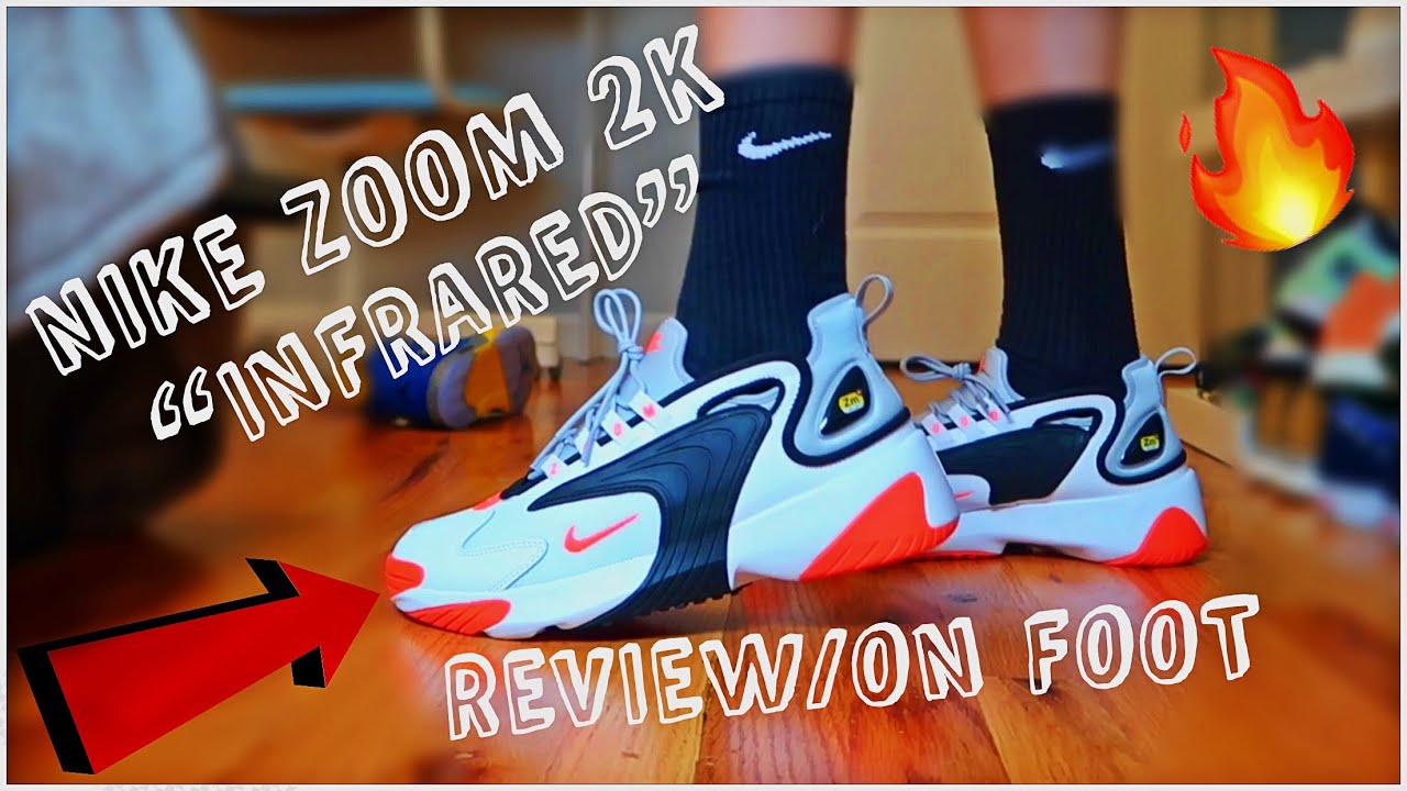 "best service 6536c 05921 NIKE ZOOM 2K ""INFRARED""🔥REVIEW ON FOOT‼️"
