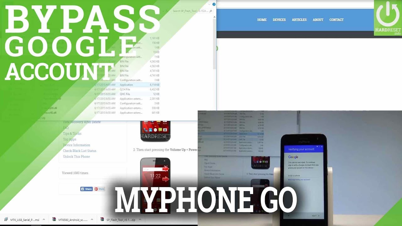 How to Unlock FRP in myPhone GO - Bypass Google Verification |HardReset info